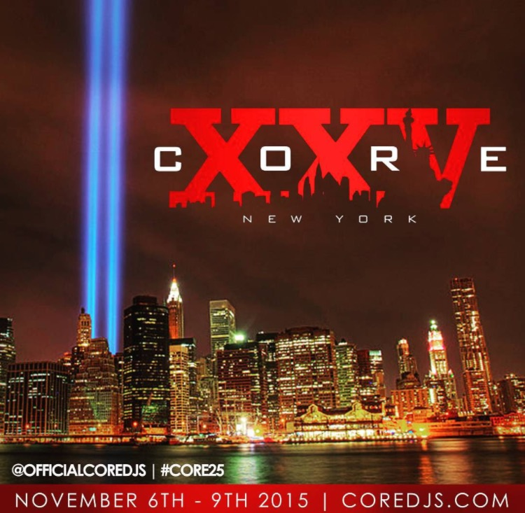 Tony Neal announced #CORE25 will take place in New York
