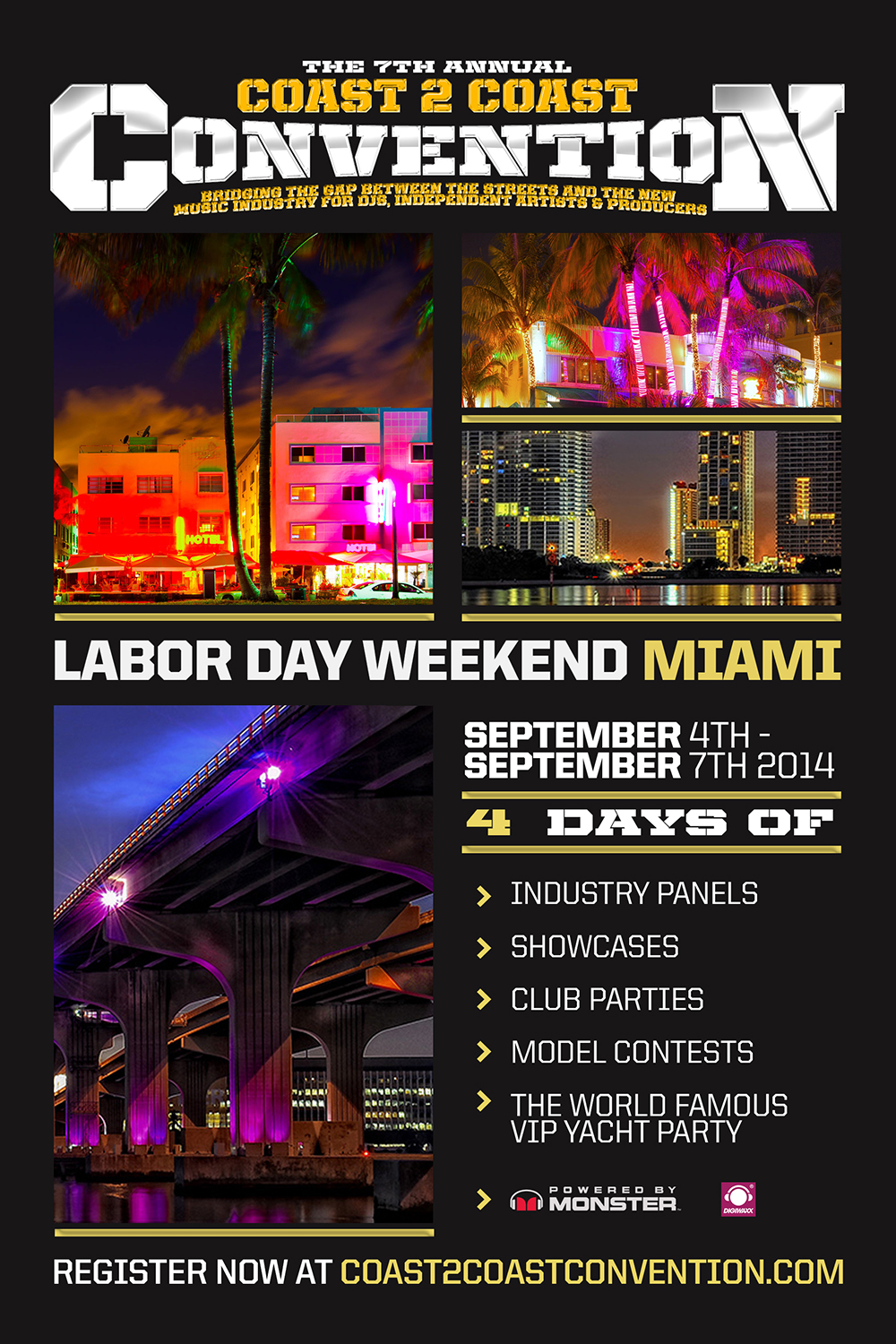 PRESS RELEASE:  7th Annual Coast 2 Coast Music Convention Invades Miami, FL Labor Day Weekend